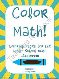 Middle School Math Coloring Pages Bundle   Middle school maths and ...