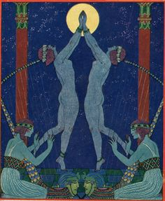 Danses de jadis (dances in times past) by George Barbier for the cover of a High Life Tailor catalogue 1921