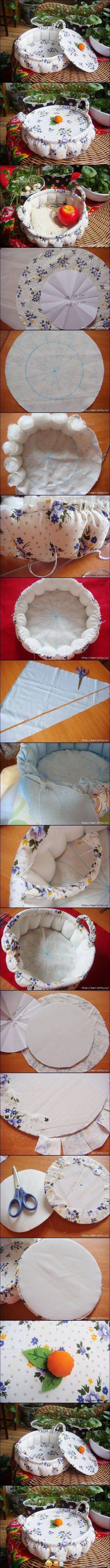 What a sweet basket. An experienced sewer could do this just from the pictures.
