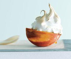 Peach Melba with Burnt Caramel Sauce | Recipe | Peach Melba, Peaches ...
