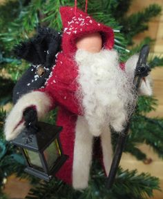 Santa Claus Christmas Ornament Old World Santa by ModerationCorner