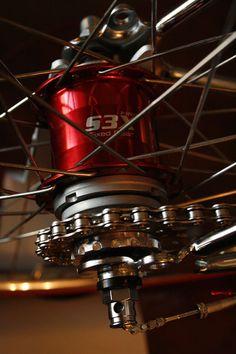 Peugeot re-chromed bike with Sturmey-Archer's fixed internal three speed rear hubs. #rebuild #hub