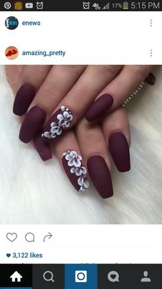 Love everything from these coffin shape nails