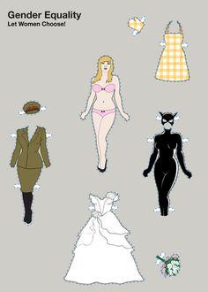 Gender Equality I by natalia Daszkiewicz, via Behance