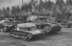 Poland, 1939: this Panzer IV Ausf. A was part of operation Fall Weiß. In foreground, a captured Polish TK-3 tankette.