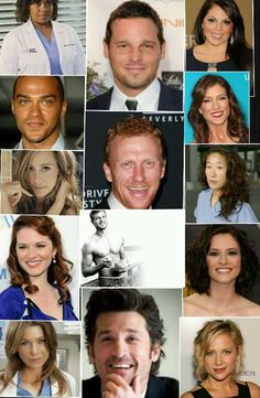 Greys Anatomy cast...lets just all take a minute and just look at Eric Dane's picture!