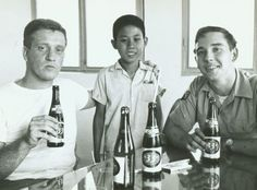 Drinking some Beer 33 (ba m' ba beer)in Saigon. Maybe more than one :-) 1964