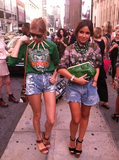 What We Saw at NYFW, Day 2: Miroslava Duma and Elena Perminova from the front. -- Leah Chernikoff
