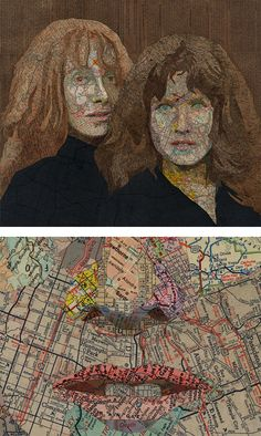 Map Collage by Matthew Cusick.