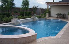 Stylish Stamped Concrete Pool Decks With Swimming Pool Red