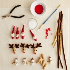 Turn peanuts into adorable Christmasornaments to hang on your tree or display around the house.