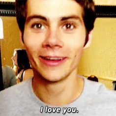 "Dylan O'Brien ""i love you"" (gif) @Kenley Rowe HOLY FUCK....."