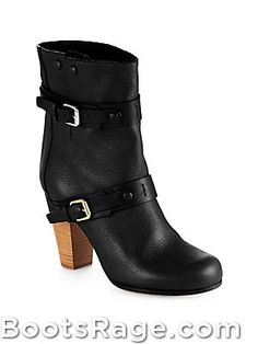 New Fall 2013 Chloé Leather Double-Buckle Boots - Women Boots And Booties
