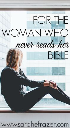 For the Woman Who Never Reads Her Bible - Sarah E. Frazer Do you struggle to read the Bible and have a regular quiet time? These Bible study tips are perfect for a beginner and will jump start your spiritual growth. Bible Prayers, Bible Scriptures, Christian Women, Christian Faith, Christian Living, Christian Families, Bible Study Tips, Bible Lessons, You Draw