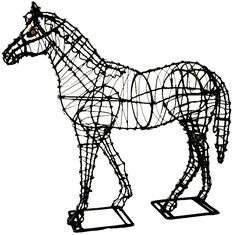 "Topiary Frame Horse - 49"" high"