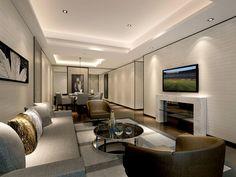 Service Apartment Interior Design Living Room And Dining Room_unit 07