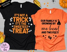 Couples Halloween Pregnancy Announcement Shirts, Halloween Baby Reveal, Halloween Baby Baby Announcement, Couples Reveal Tshirts, Unisex tee Pregnant Halloween, Couple Halloween, Baby Halloween, Halloween Pregnancy Announcement, Valentines Day Baby, Cheap Vinyl, Pregnancy Shirts, Cute Shirts, Baby Baby