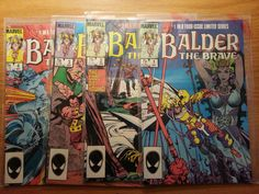 BALDER THE BRAVE # 1, 2, 3, & 4 ***VERY FINE ***** 4 ISSUE LIMITED SERIES