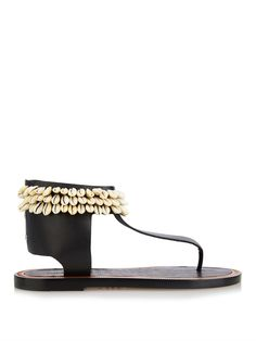 Isabel Marant Jean shell-embellished leather sandals