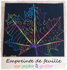 Bricolage d'automne – Les empreintes de feuilles #2