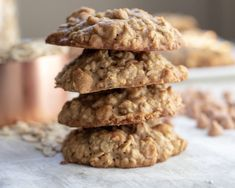 Banana Oatmeal Butterscotch Chip Cookies - Wine a Little, Cook a Lot Oatmeal Butterscotch Cookies, Oatmeal Cookie Recipes, Butterscotch Chips, Banana Bread Recipes, Sugar Free Cookies, Chip Cookies, Clean Eating Desserts, Diabetic Desserts, Diabetic Recipes