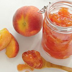 Home Canned Peach Preserves - I'm going to make these while the peaches are plentiful.