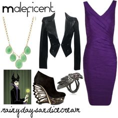 Maleficent by rainydaysandicecream on Polyvore