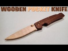 How To Make A Wooden Pocket Knife With Hand Tools - YouTube