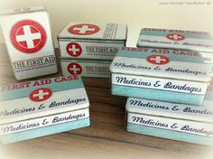 FIRST AID Case ERSTE HILFE Vorratsdose Blechdose RETRO Metall Box Dose VINTAGE | eBay