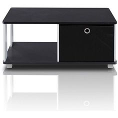 $33///Furinno 99954BK/BK Coffee Table with Bin Drawer