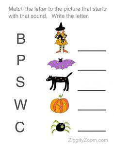halloween preschool printable