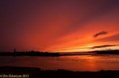 Sólarlag / sunset 30.9. 2013