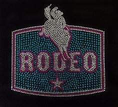 Rhinestone Rodeo T-Shirt  Bling Shirt by DesignsbyDaffy on Etsy