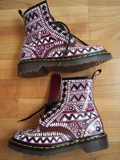 Tribal Dr Martens custom (by Kobie16)