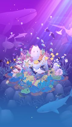 Abyssrium. I love this charming little game :) it's almost like Farmville under the sea, and very beautiful and relaxing.