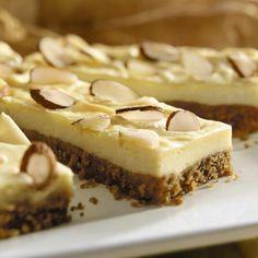 Almond Cheesecake Bars - low sugar splenda recipe