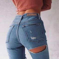 Ripped Bottom Jeans