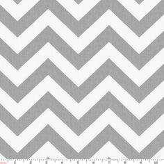 White and Gray Zig Zag Fabric by the Yard | Gray Fabric | Carousel Designs