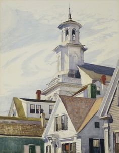 Edward Hopper (1882-1967, USA) | Methodist Church Tower, 1930