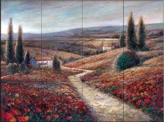 Fields of Color by Ruane Manning - Kitchen Backsplash / Bathroom wall Tile Mural - Amazon.com