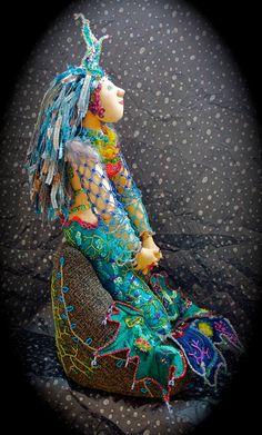 PEARL the Mermaid Belle OOAK Cloth Doll by BellaBuds on Etsy, $500.00