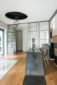 www.ferroevetrolab.it Parete vetrata ferro e vetro interior design steel glass doors