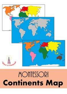 Diy montessori world continents map puzzle work in progress this map is a wonderful substitution or a variation for the montessori continents puzzle gumiabroncs Choice Image