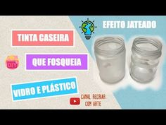 (325) Tinta Caseira que fosqueia vidro e plástico - Efeito Jateado - YouTube Chalk Paint, Mason Jars, Diy, Personal Care, Good Things, Homemade, Crafts, Painting, Biscuit