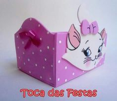 Cesta Gata Marie, 3rd Birthday, Boutiques, Party, Ideas, Paper Decorations, Cat Party, Party Kit, Feltro