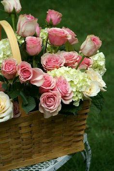 Canastos y centros flores