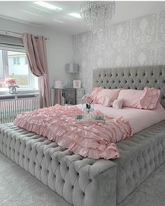 The post Pretty & Pink Bedroom goals again from the lovely & our medium blush pink bow appeared first on . Cute Bedroom Ideas, Cute Room Decor, Girl Bedroom Designs, Room Ideas Bedroom, Home Decor Bedroom, Bedroom Furniture, Stylish Bedroom, Aesthetic Room Decor, Home Decor Shops