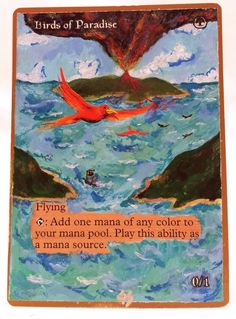 Birds of Paradise World Champs MTG Magic Altered Art Custom Rare Pimp OOAK OOP #WizardsoftheCoast