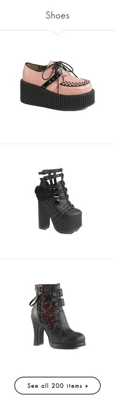 """""""Shoes"""" by pierce-the-sunflower ❤ liked on Polyvore featuring shoes, casual, casual shoes, high heel shoes, strappy high heel shoes, lace up high heel shoes, pink high heel shoes, strap shoes, boots and ankle booties"""
