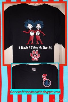 Photo on Circle of Friends Crafts: Dr. Seuss Teacher and Student Shirts